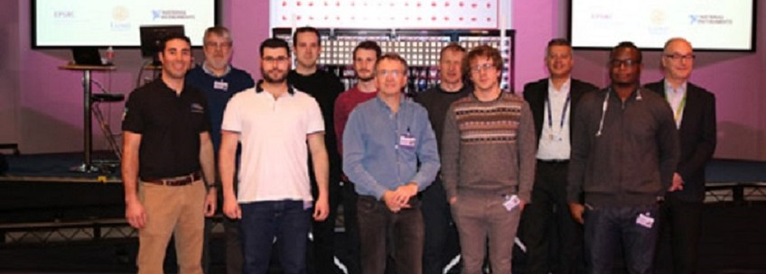Team photo taken in the BT Exhibition for MIMO trial