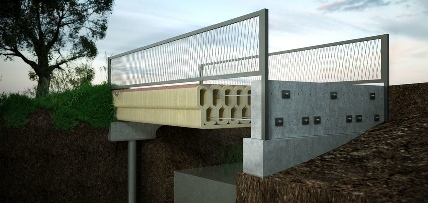World's first 3D printed reinforced concrete bridge in Gemert